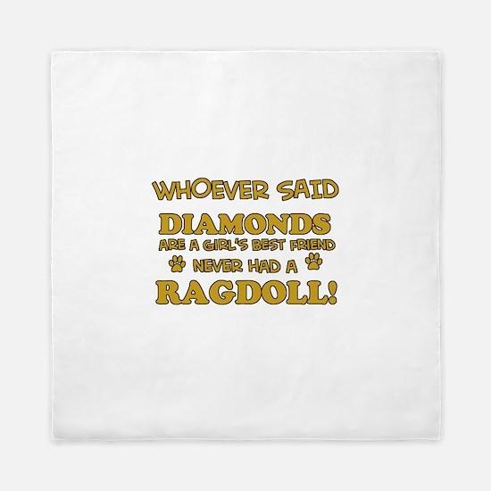 Ragdoll Cat breed designs Queen Duvet