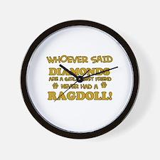 Ragdoll Cat breed designs Wall Clock