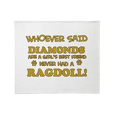 Ragdoll Cat breed designs Throw Blanket