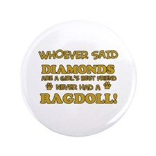 "Ragdoll Cat breed designs 3.5"" Button (100 pack)"