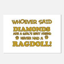 Ragdoll Cat breed designs Postcards (Package of 8)