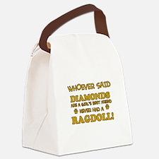 Ragdoll Cat breed designs Canvas Lunch Bag