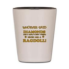 Ragdoll Cat breed designs Shot Glass