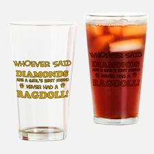 Ragdoll Cat breed designs Drinking Glass