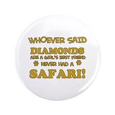 """Safari Cat breed designs 3.5"""" Button"""