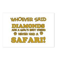 Safari Cat breed designs Postcards (Package of 8)