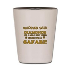 Safari Cat breed designs Shot Glass