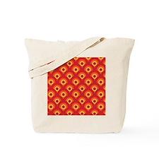 Orange Retro Circles Tote Bag