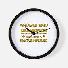 Savannah Cat breed designs Wall Clock