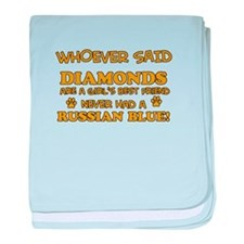Russian Blue Cat breed designs baby blanket
