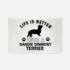 Dandie Dinmont Terrier dog gear Rectangle Magnet (