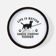 Dandie Dinmont Terrier dog gear Wall Clock
