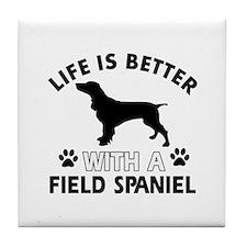 Field Spaniel dog gear Tile Coaster