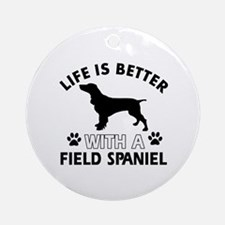 Field Spaniel dog gear Ornament (Round)