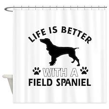 Field Spaniel dog gear Shower Curtain