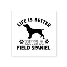 "Field Spaniel dog gear Square Sticker 3"" x 3"""