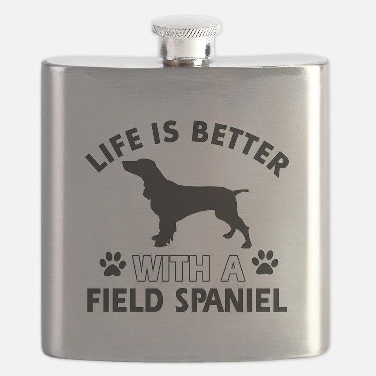 Field Spaniel dog gear Flask