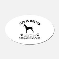 German Pinscher dog gear Wall Decal