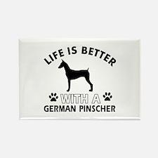 German Pinscher dog gear Rectangle Magnet (100 pac