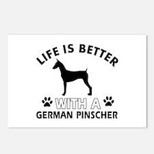 German Pinscher dog gear Postcards (Package of 8)