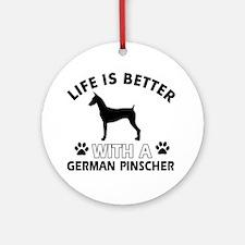 German Pinscher dog gear Ornament (Round)