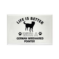 German Wirehaired Pointer dog gear Rectangle Magne