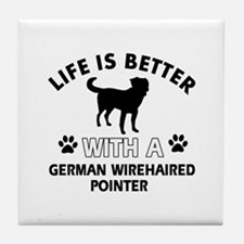German Wirehaired Pointer dog gear Tile Coaster