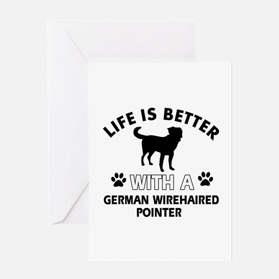 German Wirehaired Pointer dog gear Greeting Card