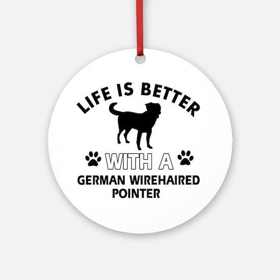 German Wirehaired Pointer dog gear Ornament (Round