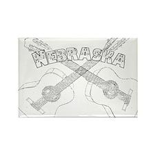 Nebraska Guitars Rectangle Magnet