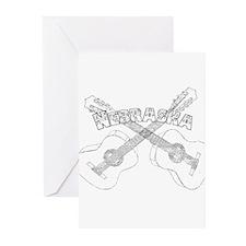 Nebraska Guitars Greeting Cards (Pk of 20)