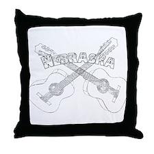 Nebraska Guitars Throw Pillow
