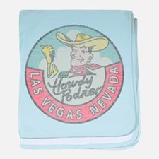 Vintage Vegas Cowboy baby blanket