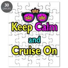 Crown Sunglasses Keep Calm And Cruise On Puzzle