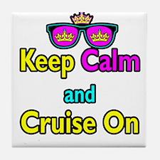 Crown Sunglasses Keep Calm And Cruise On Tile Coas