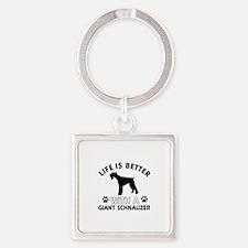 Giant Schnauzer dog gear Square Keychain