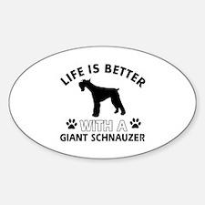 Giant Schnauzer dog gear Sticker (Oval)