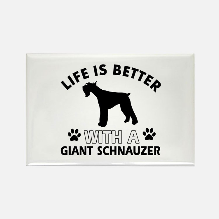 Giant Schnauzer dog gear Rectangle Magnet (10 pack