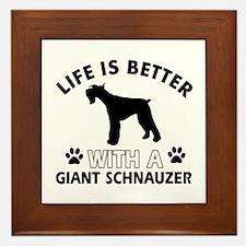Giant Schnauzer dog gear Framed Tile