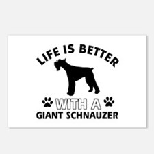 Giant Schnauzer dog gear Postcards (Package of 8)