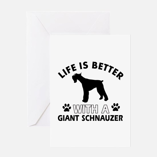 Giant Schnauzer dog gear Greeting Card