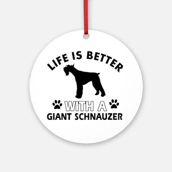 Giant Schnauzer dog gear Ornament (Round)