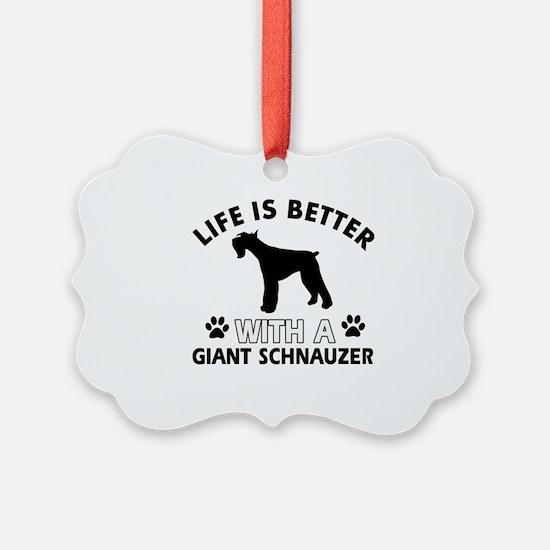 Giant Schnauzer dog gear Ornament