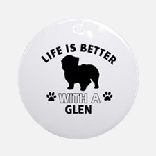 Glen dog gear Ornament (Round)