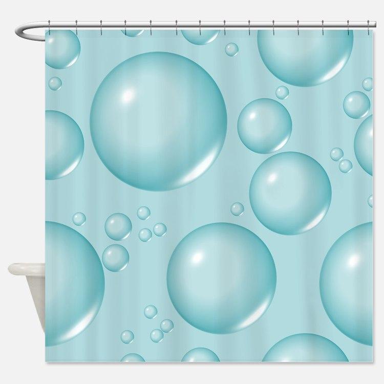 Aqua Bubbles Shower Curtain