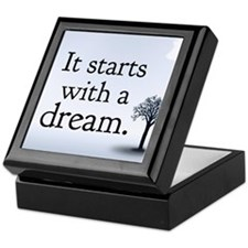 it starts with a dream Keepsake Box