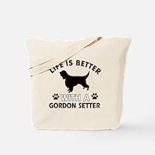 Gordon Setter dog gear Tote Bag