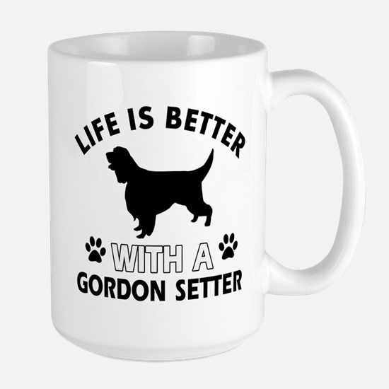 Gordon Setter dog gear Large Mug
