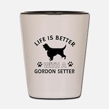 Gordon Setter dog gear Shot Glass