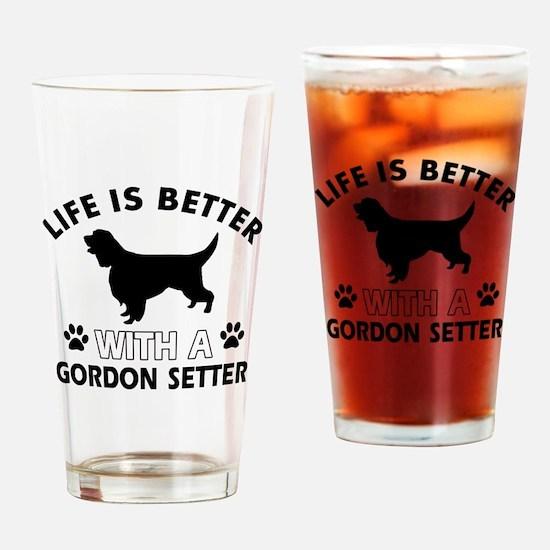 Gordon Setter dog gear Drinking Glass